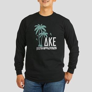 Delta Kappa Epsilon Palm Long Sleeve Dark T-Shirt
