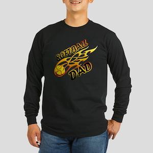 Softball Dad (flame) copy Long Sleeve Dark T-S