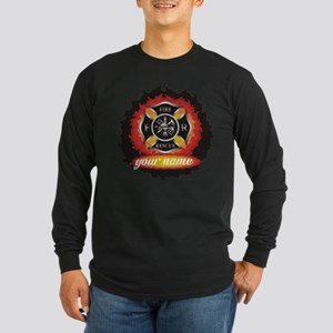 Personalized Fire and Rescue Long Sleeve T-Shirt