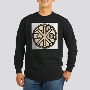Alpha Omega Stain Glass Long Sleeve T-Shirt