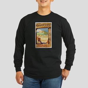 Pompei Italy ~ Vintage Tr Long Sleeve Dark T-Shirt