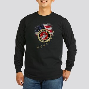 USMC: Long Sleeve Dark T-Shirt