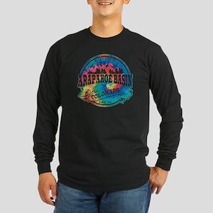 Arapahoe Basin Old Circle Long Sleeve Dark T-Shirt
