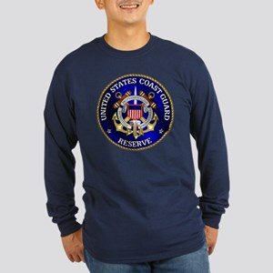 USCG Reserve Long Sleeve Dark T-Shirt