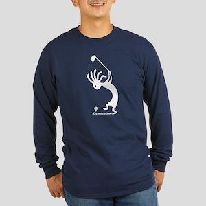 Kokopelli Golfer Long Sleeve Dark T-Shirt