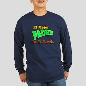 El Mejor Padre Long Sleeve Dark T-Shirt
