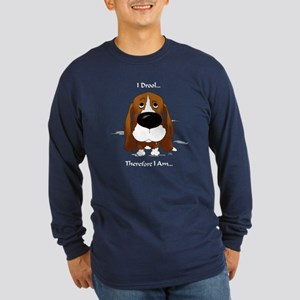 Basset - I Drool Long Sleeve Dark T-Shirt