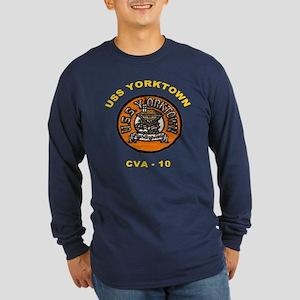 USS Yorktown CV 10 Long Sleeve Dark T-Shirt