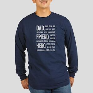 Dad Hero Long Sleeve Dark T-Shirt