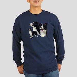 Border Collie Long Sleeve Dark T-Shirt