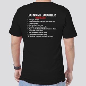 Dating My Daughter - The Rules Men's Fitted T-Shir