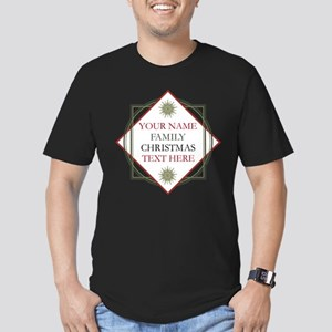 Family Christmas Perso Men's Fitted T-Shirt (dark)