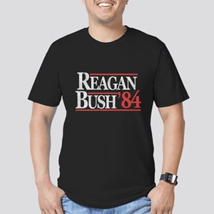 Reagan Bush '84 Men's Fitted T-Shirt (dark)