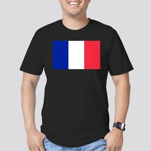 French Flag Men's Fitted T-Shirt (dark)