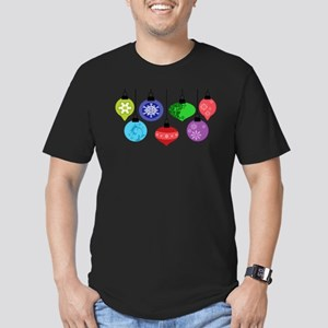 Christmas Ornaments Men's Fitted T-Shirt (dark)