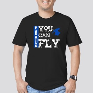 Parkour - You Can Fly Men's Fitted T-Shirt (dark)
