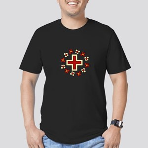 Floral Red Cross T-Shirt