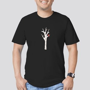 Winter Birch Tree Cardinal Bird T-Shirt