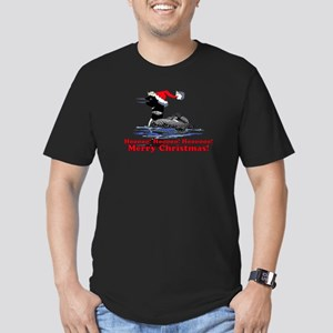 Christmas Loon Men's Fitted T-Shirt (dark)