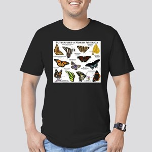 Butterflies of North America Men's Fitted T-Shirt