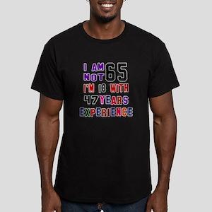 65 Birthday Designs Men's Fitted T-Shirt (dark)