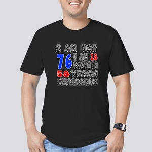 I am not 76 Birthday D Men's Fitted T-Shirt (dark)