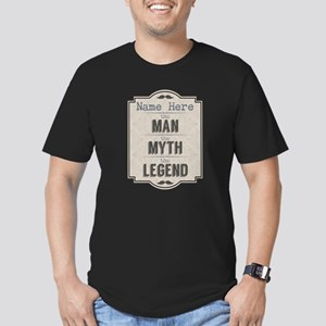 Personalized Man Myth Men's Fitted T-Shirt (dark)