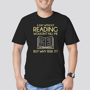 Reading Men's Fitted T-Shirt (dark)