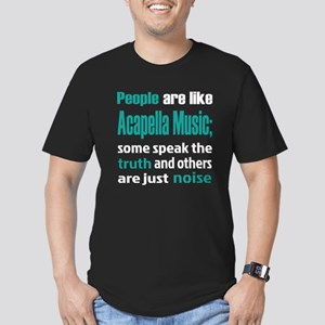 People are like Acapel Men's Fitted T-Shirt (dark)