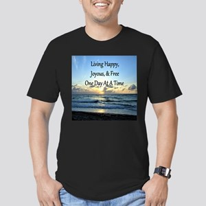 LIVING HAPPY Men's Fitted T-Shirt (dark)