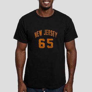 New Jersey 65 Birthday Men's Fitted T-Shirt (dark)