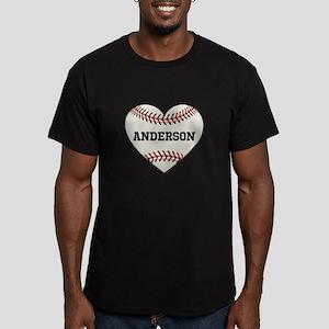 Baseball Love Personal Men's Fitted T-Shirt (dark)