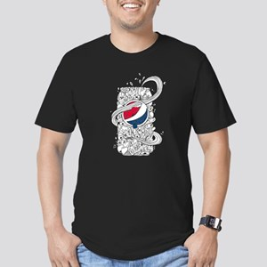 Pepsi Can Doodle Men's Fitted T-Shirt (dark)