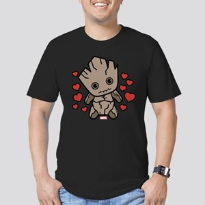 Groot Hearts Men's Fitted T-Shirt (dark)