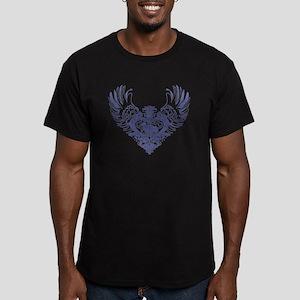 Corgi Men's Fitted T-Shirt (dark)