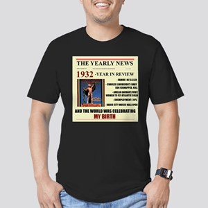 born in 1932 birthday gift Men's Fitted T-Shirt (d