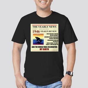 born in 1946 birthday gift Men's Fitted T-Shirt (d