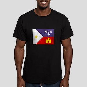 Cajun Flag Men's Fitted T-Shirt (dark)