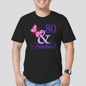 80 And Fabulous Men's Fitted T-Shirt (dark)