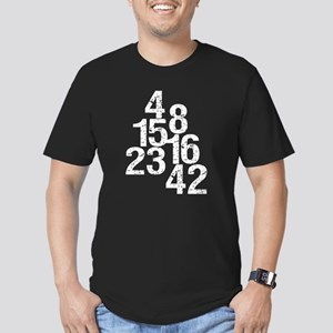 Eroded LOST Numbers Men's Fitted T-Shirt (dark)