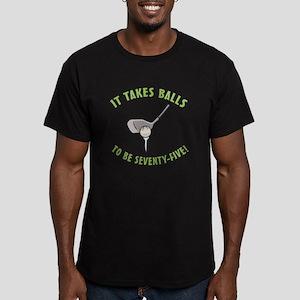75th Birthday Golfing Gag Men's Fitted T-Shirt (da