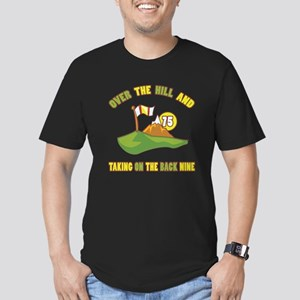 Golfing Humor For 75th Birthday Men's Fitted T-Shi