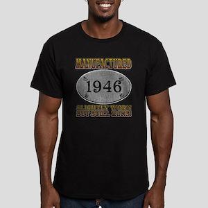 Manufactured 1946 Men's Fitted T-Shirt (dark)