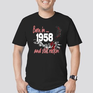 Born in 1958 Men's Fitted T-Shirt (dark)