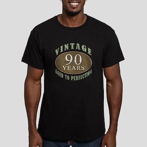 Vintage 90th Birthday Men's Fitted T-Shirt (dark)
