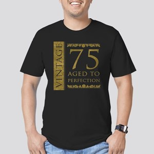 Fancy Vintage 75th Birthday Men's Fitted T-Shirt (