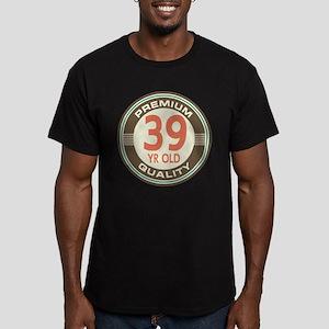 39th Birthday Vintage Men's Fitted T-Shirt (dark)