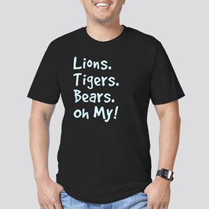 Lions.Tigers.Bears. Oh Men's Fitted T-Shirt (dark)