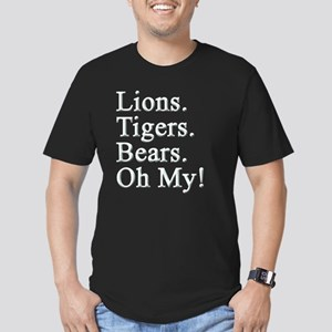 LIONS TIGERS BEARS Men's Fitted T-Shirt (dark)