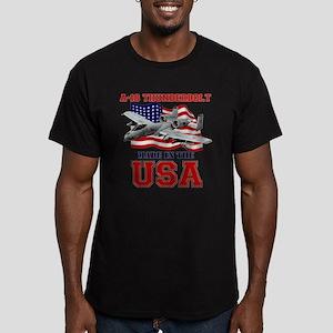 A-10 Thunderbolt Men's Fitted T-Shirt (dark)